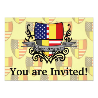 Bandeira Belga-Americana do protetor Convite 12.7 X 17.78cm