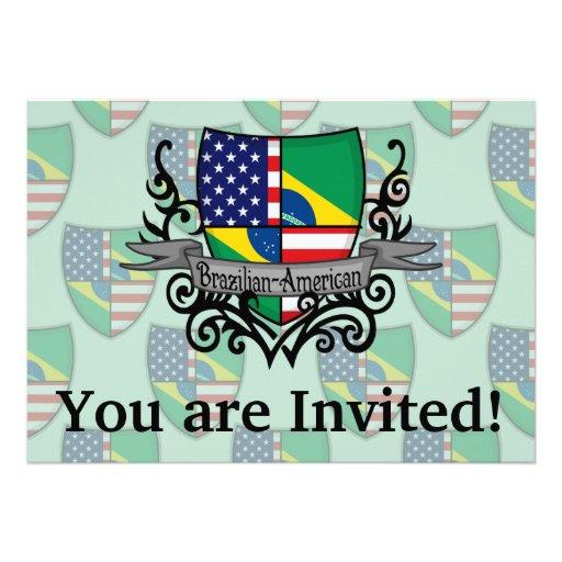 Bandeira Brasileiro-Americana do protetor Convites Personalizados