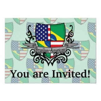 Bandeira Brasileiro-Americana do protetor Convite 12.7 X 17.78cm