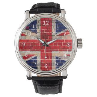 Bandeira BRITÂNICA em um relógio da parede de