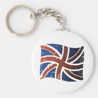 Bandeira britânica chaveiros