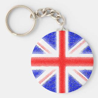 Bandeira britânica chaveiro