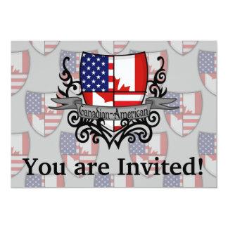 Bandeira Canadense-Americana do protetor Convite 12.7 X 17.78cm