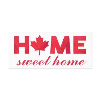 Bandeira canadense Home doce Home Impressão Em Canvas