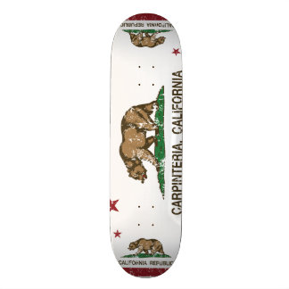 Bandeira Carpinteria da república de Califórnia Shape De Skate 18,7cm