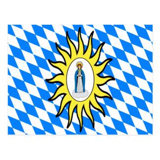 Bandeira católica da liga 30 da guerra de Mary Cartão Postal