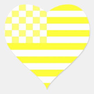 Bandeira Checkered americana 1 B Adesivo Coração