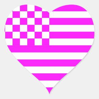 Bandeira Checkered americana 1 G Adesivo Coração