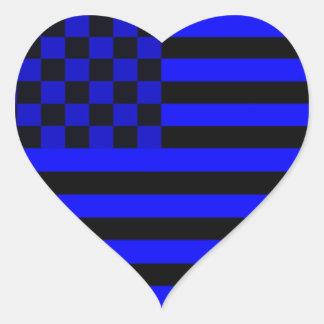 Bandeira Checkered americana 1 IUB Adesivo Em Forma De Coração
