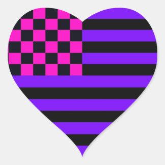 Bandeira Checkered americana 1 IURB Adesivo Coração