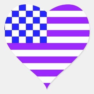 Bandeira Checkered americana 1 RG Adesivo Coração
