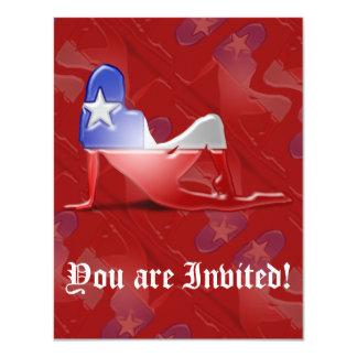 Bandeira chilena da silhueta da menina convite personalizados
