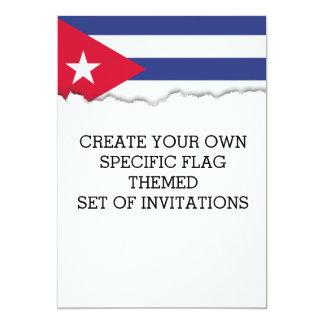 Bandeira clássica de Cuba Convite 12.7 X 17.78cm