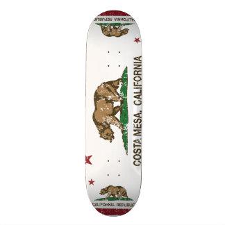 Bandeira Costa Mesa do estado de Califórnia Shape De Skate 20,6cm