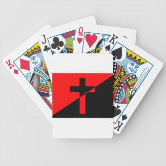 Bandeira cristã da cristandade da anarquia do baralho de truco
