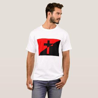 Bandeira cristã da cristandade da anarquia do camiseta