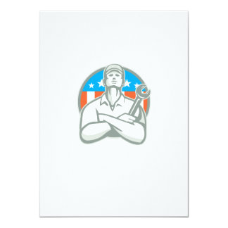 Bandeira cruzada braços dos EUA da chave do Convites Personalizado