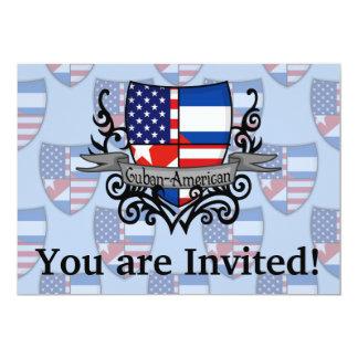 Bandeira Cubano-Americana do protetor Convite 12.7 X 17.78cm