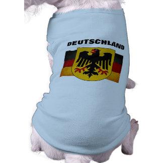 Bandeira da alemanha da bandeira de Alemanha do Gr Camisa Sem Mangas Para Cachorro