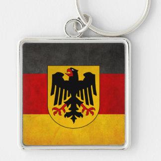 Bandeira da alemanha da bandeira de Alemanha do Gr Chaveiro Quadrado Na Cor Prata