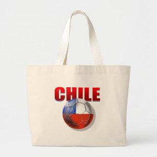 Bandeira da bola de futebol do logotipo do Chile d Bolsas De Lona