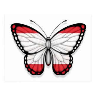 Bandeira da borboleta de Tahitian Cartão Postal