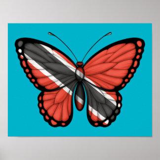 Bandeira da borboleta de Trinidad and Tobago Pôster