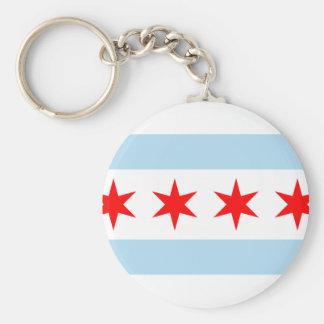 Bandeira da cidade de Chicago Chaveiro