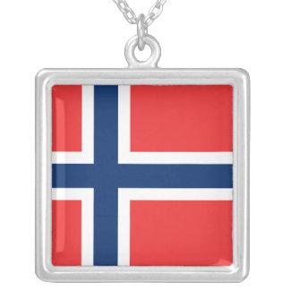 Bandeira da colar de Noruega