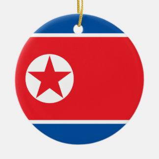 Bandeira da Coreia do Norte Ornamento De Cerâmica