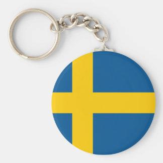 Bandeira da corrente chave da suecia chaveiro
