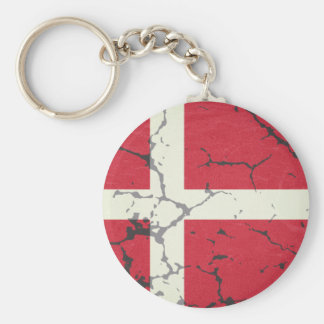 Bandeira da Dinamarca Chaveiro