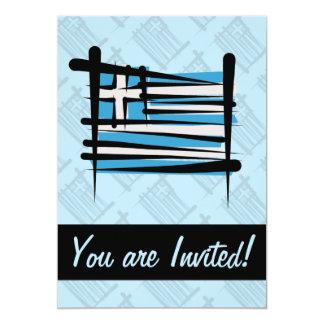 Bandeira da escova da piscina convite 12.7 x 17.78cm