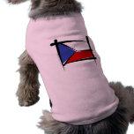 Bandeira da escova da república checa roupas para pet