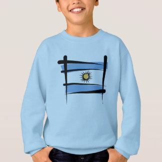 Bandeira da escova de Argentina T-shirt