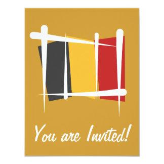Bandeira da escova de Bélgica Convite 10.79 X 13.97cm