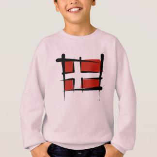Bandeira da escova de Dinamarca Tshirt
