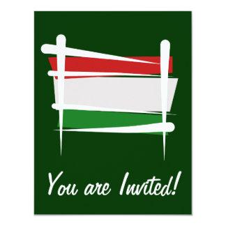 Bandeira da escova de Hungria Convite 10.79 X 13.97cm