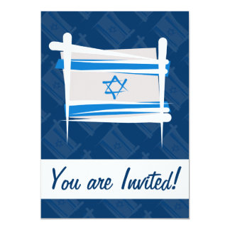 Bandeira da escova de Israel Convite 12.7 X 17.78cm