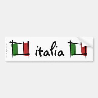 Bandeira da escova de Italia Adesivo Para Carro