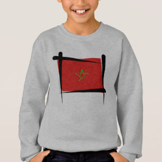 Bandeira da escova de Marrocos Camisetas