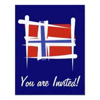 Bandeira da escova de Noruega Convite 10.79 X 13.97cm