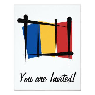 Bandeira da escova de Romania Convite Personalizado