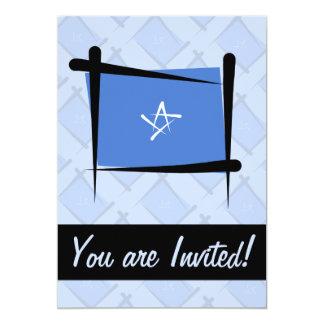 Bandeira da escova de Somália Convite 12.7 X 17.78cm