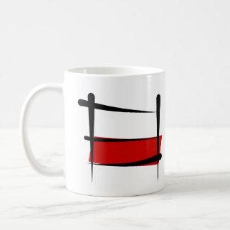 Bandeira da escova do Polônia Caneca De Café