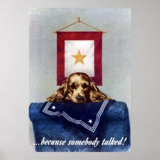 Bandeira da estrela do ouro -- Porque alguém falou Pôster