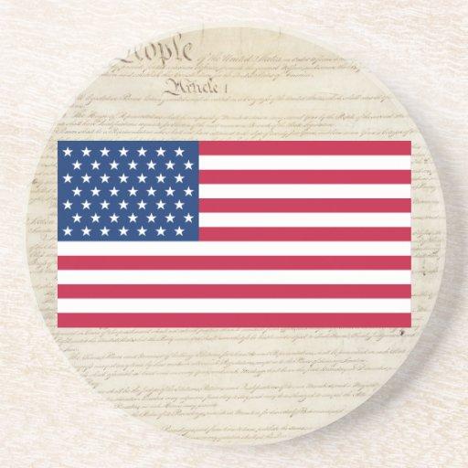 Bandeira da estrela dos Estados Unidos 49 Porta Copos Para Bebidas