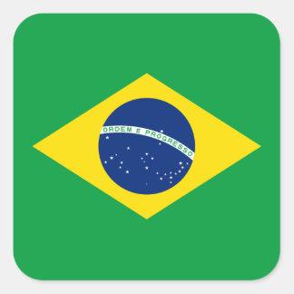 Bandeira da etiqueta de Brasil