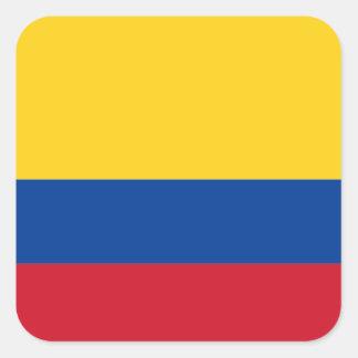 Bandeira da etiqueta de Colômbia