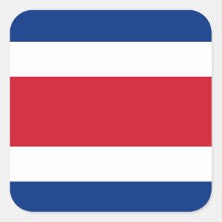 Bandeira da etiqueta de Costa Rica